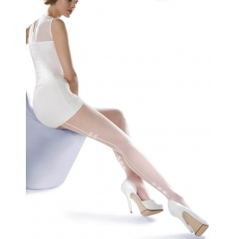 Collant couture fantaisie blanc