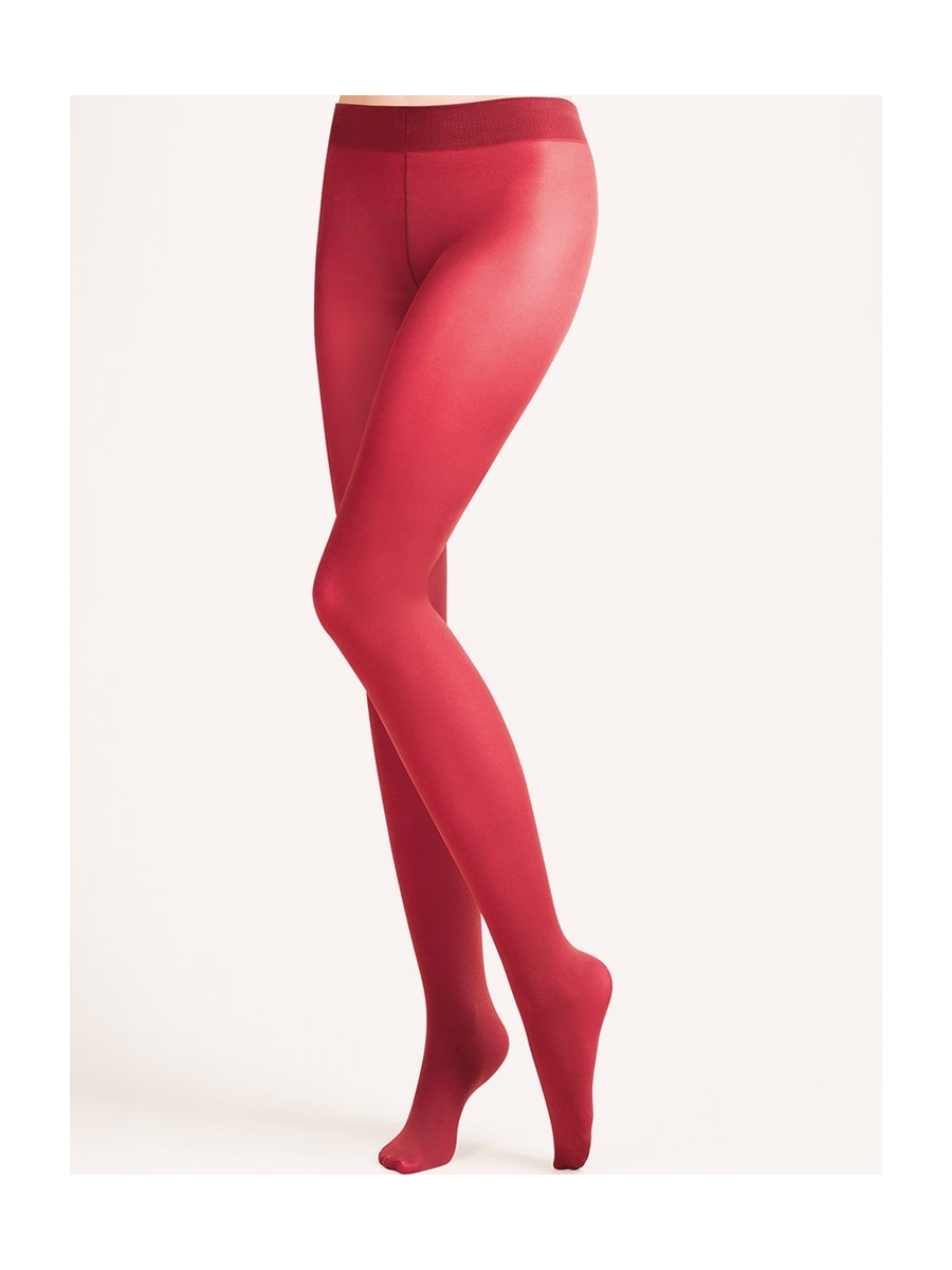 Collant taille basse rouge carmin