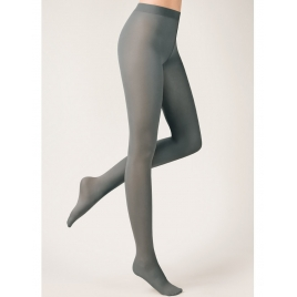 Collant opaque gris 3D Lycra