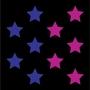 Étoiles bleues/roses